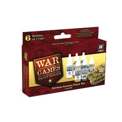 "(14,87€/100ml) Vallejo Model Color Wargames "" German Armour Paint Set"" Airbrush"