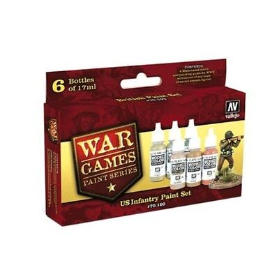 "(14,87€/100ml) Vallejo Model Color Wargames "" US Paint Set"" Airbrush Farben Set"