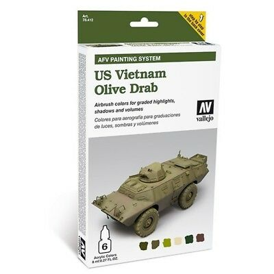 "(24,54€/100ml) Vallejo AFV Amour Painting System "" US Vietnam Olive Drab"" 78412"