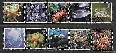 1) GB Stamps 2007 Sealife Full Set. Good Used.