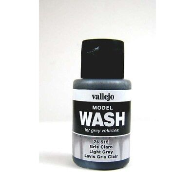 (12,54€/100ml) Vallejo Model Wash Light Grey 35ml 76515 Farbe