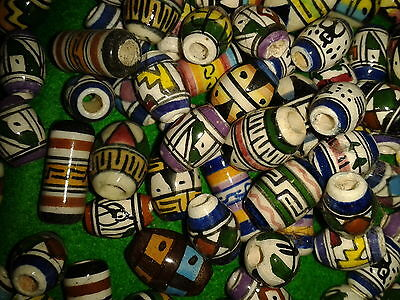 20 x Ceramic Handpainted Beads from Peru (assorted sizes and designs)