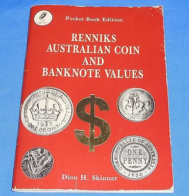 1983 Hand Book Pocket Edition Renniks Australian Coin & Bank Note Values 90 Page