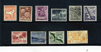 Christmas Islands 1963 Qeii Set Of 10 Stamps To $1 Sg 11-20 Used Or Mounted Mint