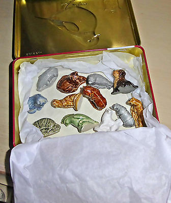 Selection of 12 WADE Animal Figurines - all in good condition - tin included.