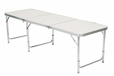 6Ft Aluminium Folding Portable For Picnic Dining Bbq Party Table Adjust Height