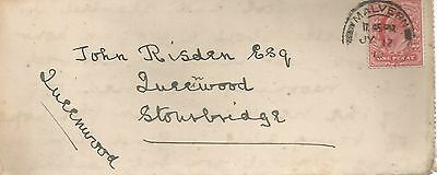 KING EDWARD VII 1d RED FROM MALLVERN 1910 TO STOURBRIDGE LETTER CARD 346