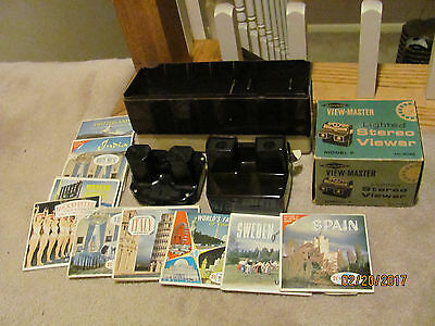 Vintage Sawyer View-Master Lighted Stereo Viewer (Model F) With Box -+ MUCH MORE