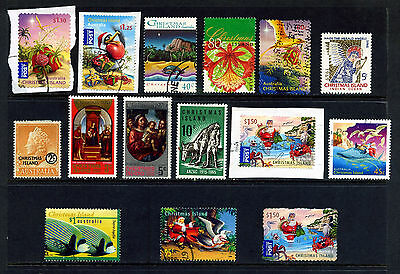 Christmas Islands Medley Of 15 Stamps From 1958 Fine Used Or Mounted Mint