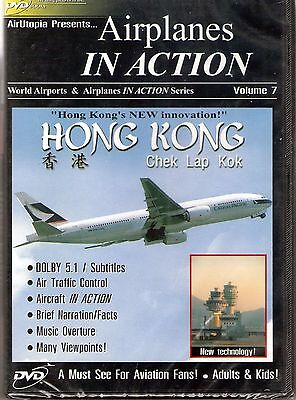 Airplanes in Action. Hong Kong Chek Lap Kok Volume 7. DVD. New & Sealed For Gift