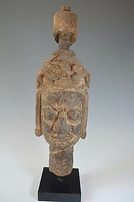 Fine Antique Wood Temple Guardian Figure South East Asia China 18Th Century