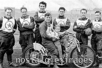 Photo Taken From A 1960 Image Of The Stoke  Speedway Team