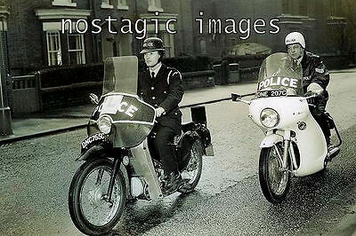 PHOTO TAKEN FROM A 1960's IMAGE OF POLICE MOTORCYCLE CADETS TRAINING