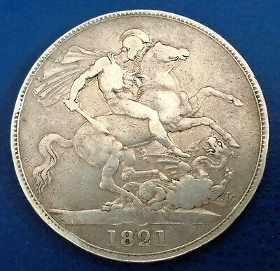 1821 King George IV Crown, edge year Secundo - reasonable grade