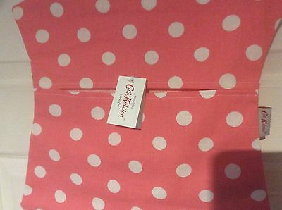 Genuine Cath Kidston Pink Button Spot Peg Bag  New With Tag