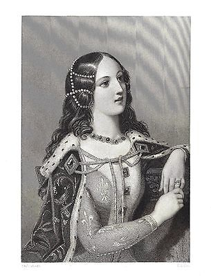 Isabella of Valois - Queen Consort of Richard II - Eng. after Edward Corbould