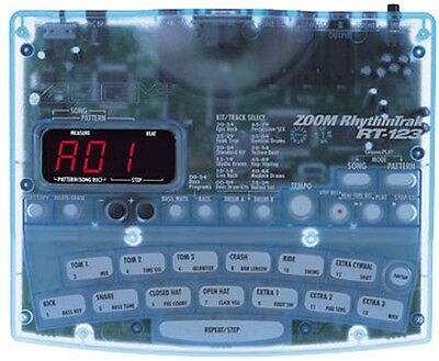 Zoom Rt-123 Rhythm Track Drum Machine With Bass Backing & Power Supply
