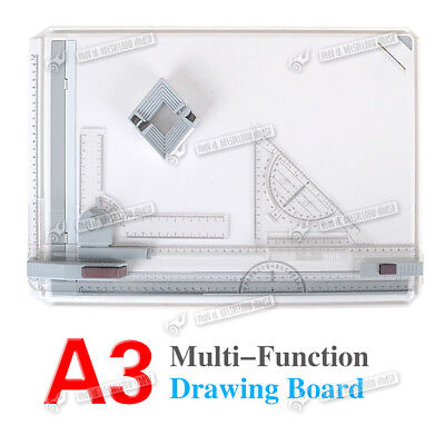 Pro Quality Office A3 Drawing Board Table Set With Magnetic Clamping Bar