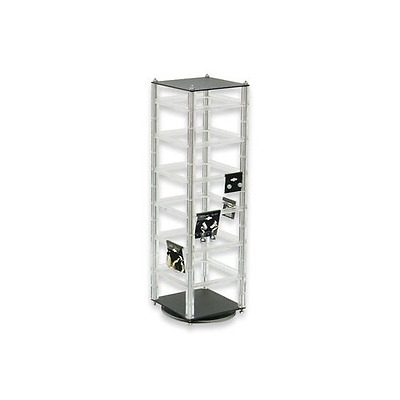 """Rotating Revolving Earrings Stand, Jewelry Countertop Display Holds 48 2"""" Cards"""