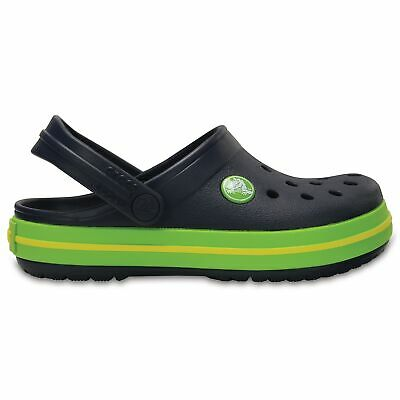 Crocs CROCBAND KIDS Unisex Boys Girls Croslite Comfy Summer Clogs Navy/Green