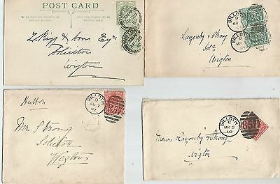 EIGHT KING EDWARD VII COVERS ADDRESSED TO WIGTON WITH 1d REDS  395