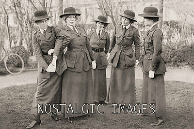 Photo Taken From A 1914 Image Of Femail Police Officers Training In Self Defence