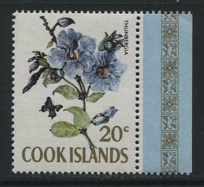 Cook Islands: 1967 20 cents stamp - Thunbergia SG240A MNH QQ300