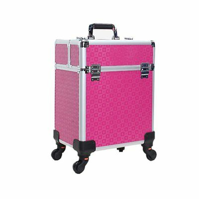 Grande Cosmetic Hairdressing Make up Vanity Case Trolley Beauty Makeup Nail Box