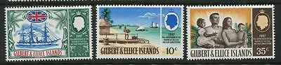 Gilbert & Ellice Islands:1967 75th Anniv of Protectorate set SG132-4 MNH PP130