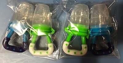4 Pack USA Fresh Food Nibbler Feeding Bottle Pacifier Baby Toddler Teether Lot