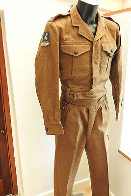 Military WW2 Officers Battle Dress Uniform Royal Armoured Corps Tank Reg (4473