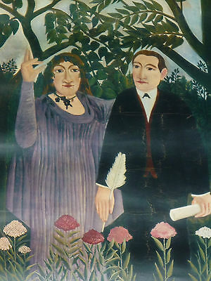 Ancienne Affiche Douanier  Rousseau Exposition Musee National Art Moderne