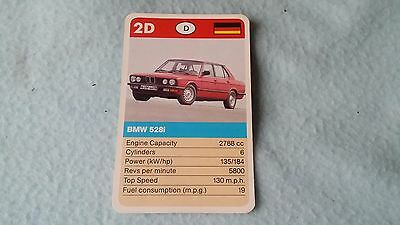 BMW 528 E28 5 Series Original Top Trump Card Free Postage Collectible Rare