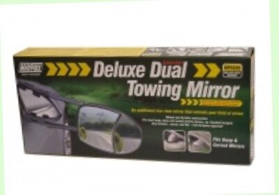 2 X Towing Mirrors Deluxe Dual Extension, Maypole(8326)Convex And Flat Glass