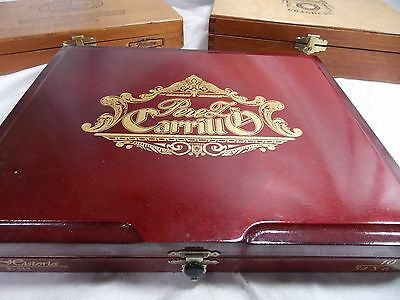 Lot of 4 Empty Wooden Cigar Boxes