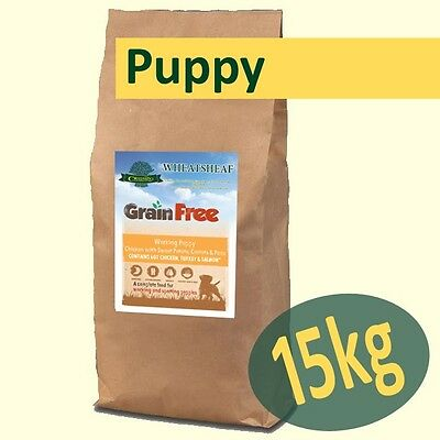 15kg *Grain Free* Puppy Food - CHICKEN, SWEET POTATO, CARROTS & PEAS Working Dog