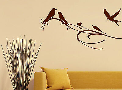 Personalised Tree Branch Bird Wall Sticker Mural Home Decal Room Vinyl Art Decor