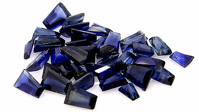 3.61ct mixed lot of baguette cut sapphires gold loose gemstones jewellery making