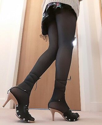 Worn Opaque Tights