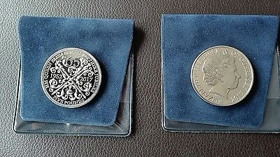 2 Sapphire Jubilee 5 pound coins