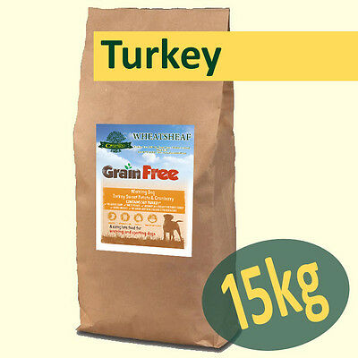 15kg *Grain Free* TURKEY, SWEET POTATO & CRANBERRY Working Dog Food