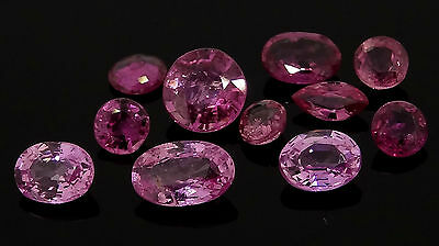 2.00ct mixed lot of pink sapphires rubies gold loose gemstones jewellery making