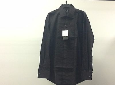 Mens Black Standard Pleated Tuxedo Wedding Formal Dress Shirt Size 15 1/2 13A515