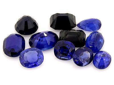 8.21ct mixed lot of sapphires (damaged) gold loose gemstones jewellery making