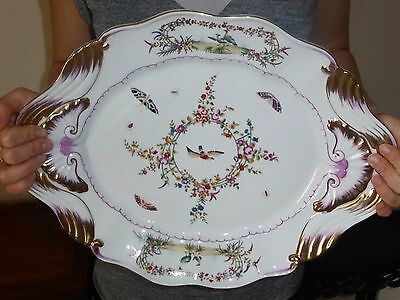 Royal Crown Derby Duesbury  hand painted large dish platter Reproduction