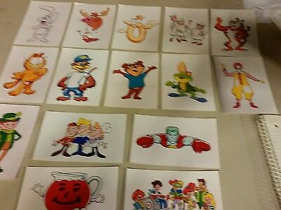 Vintage 15 character cards advertising food cartoons restaurant e121
