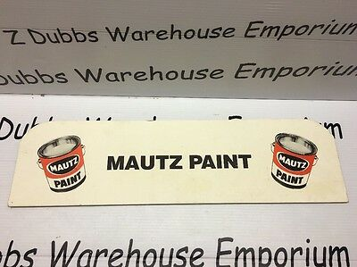 Mautz Paint A Sherwin Williams Co Vintage Store Display Counter Sign Sale Cans