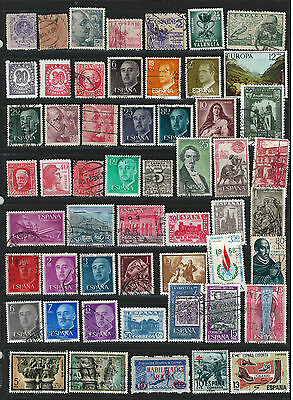 SPAIN Amazing Collection Miscellaneous Very Fine & Fine Used Stamps Set# 5