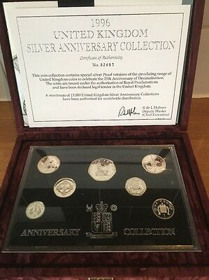 1996 UK SILVER PROOF ANNIVERSARY COLLECTION - boxed/coa