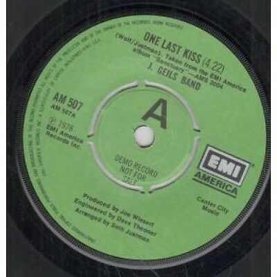 "J GEILS BAND One Last Kiss 7"" VINYL UK Emi 1978 Demo B/w I Can't Believe You"